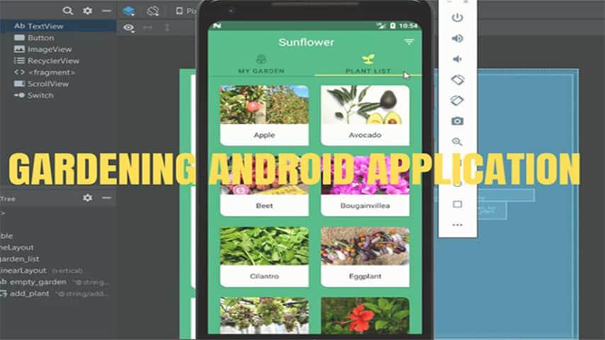 Application de jardinage dans Android avec code source