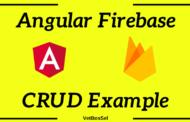 Exemple CRUD Angular Firebase