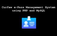 Projet de système de gestion des laissez-passer de couvre-feu utilisant PHP et MySQL