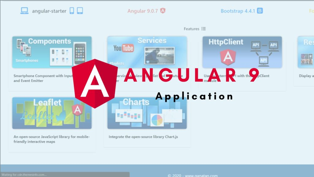 Application Angular 9 avec code source