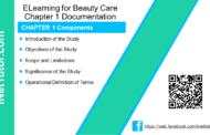 ELearning for Beauty Care Chapter 1 Documentation - iNetTutor.com