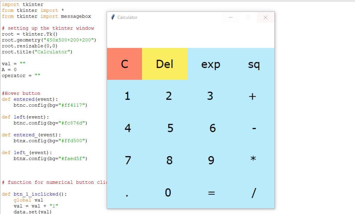 Application de calculatrice en Python avec code source