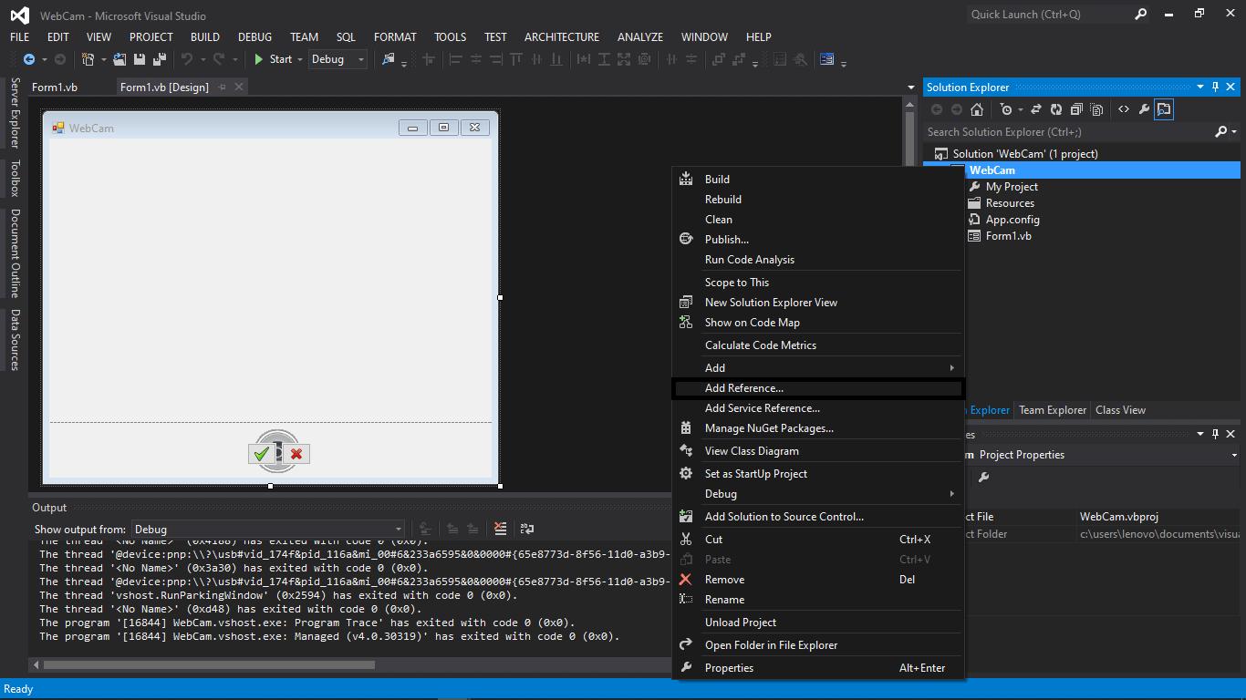Capture de webcam dans le code source et didacticiel VB.NET - Étape 5