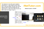 Capture de webcam dans le code source VB.NET et didacticiel