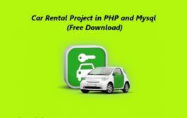 Projet de location de voitures en PHP et Mysql, système de gestion de location de voitures en ligne en PHP
