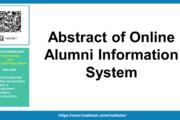 Résumé du système d'information en ligne sur les anciens