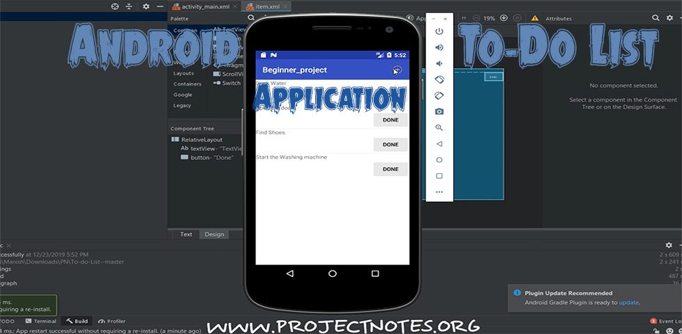 Application Android To-Do-List avec code source