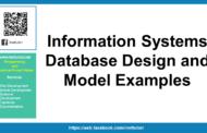 Conception de bases de données de systèmes d'information et exemples de modèles