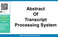 Résumé du système de traitement des transcriptions
