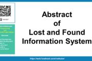 Résumé du système d'information sur les objets perdus et trouvés