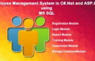Système de gestion des employés en C # .Net et ASP.Net utilisant MS SQL (Computer Project)