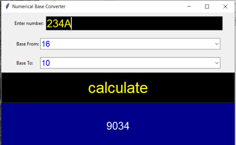 Convertisseur de base numérique en Python avec code source