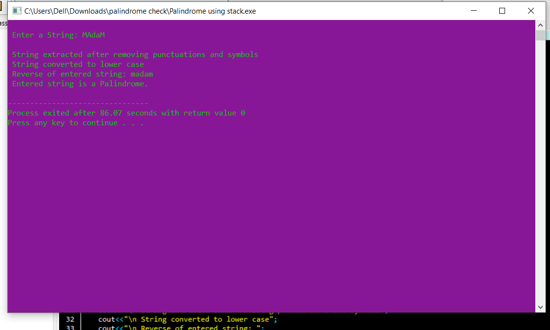 Palindrome Archiver C ++ avec le code source
