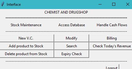 Système de gestion de magasin médical en Python avec code source