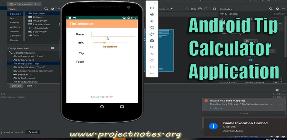 Application de calcul de pointe Android avec code source