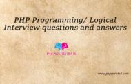Commentaire sur les questions et réponses PHP Interview (Programmation / Logique) par Sumit Bhist