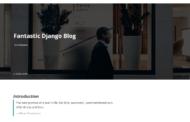 Fantastique application de blog réalisée avec Django