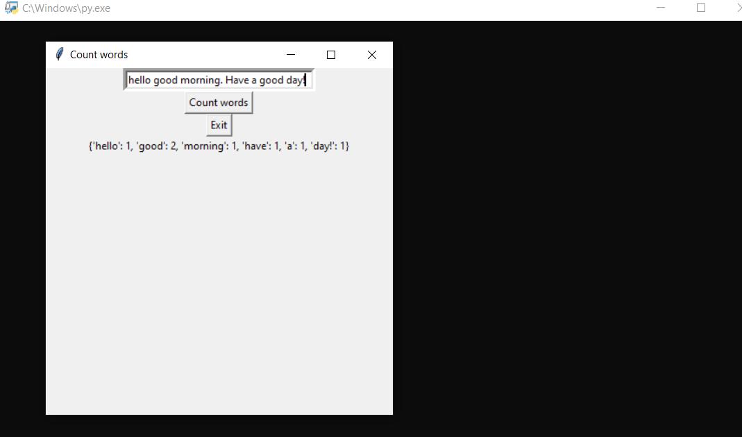 Nombre de mots en Python avec code source