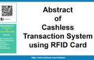 Résumé du système de transaction sans numéraire utilisant une carte RFID