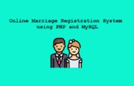 Système d'enregistrement de mariage en ligne en PHP