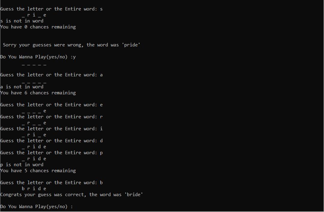 Jeu de devinettes de mots en Python avec code source