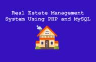 Projet de système de gestion immobilière utilisant PHP et MySQL