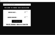 Calculatrice de signe du zodiaque en Python avec code source