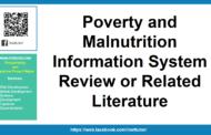 Examen du système d'information sur la pauvreté et la malnutrition ou documentation connexe