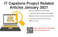 Articles connexes sur le projet Capstone IT Janvier 2021