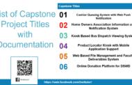 Liste des titres de projets Capstone avec documentation