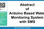 Résumé du système de surveillance de l'eau basé sur Arduino avec SMS