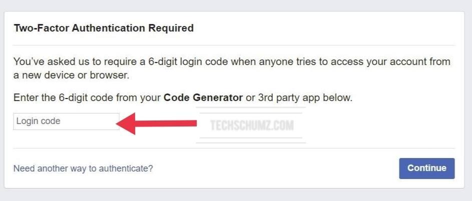 Connectez-vous à votre Facebook en utilisant le générateur de code