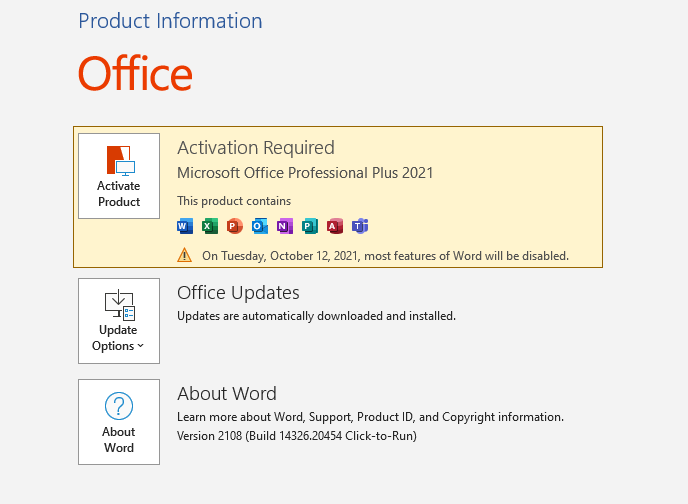 Télécharger la version d'essai de Microsoft Office 2021