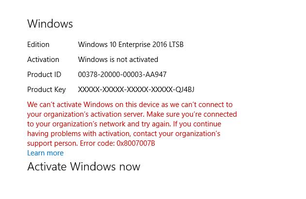 Comment mettre à niveau l'évaluation Windows 10 Entreprise LTSB 2016 vers la version complète