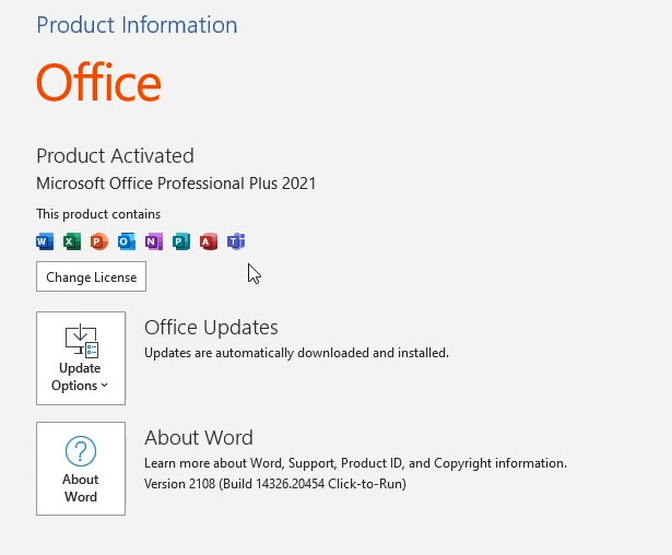 Clé de produit Microsoft Office 2021 bon marché